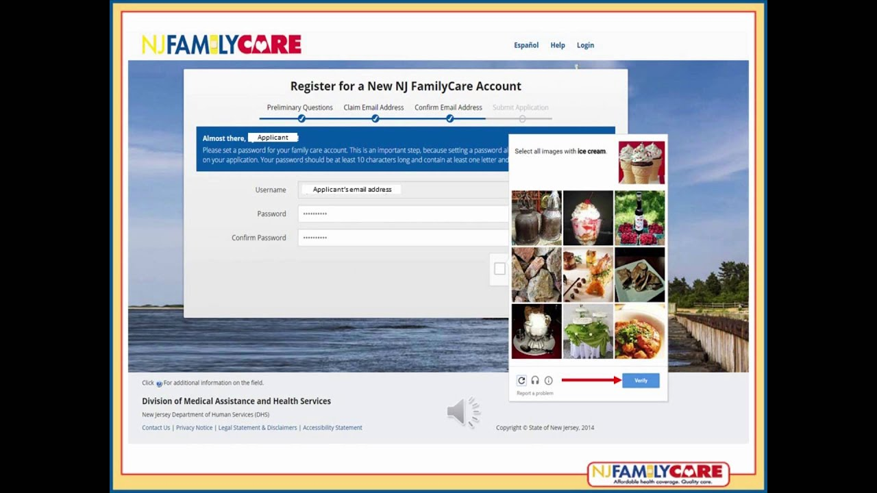 NJ FamilyCare Online Application Tutorial - YouTube
