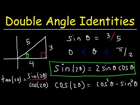 Double Angle Identities & Formulas of Sin, Cos & Tan - Trigonometry
