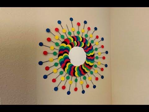 DIY: Sunburst Mirror Wall Art Decor - Easy to make