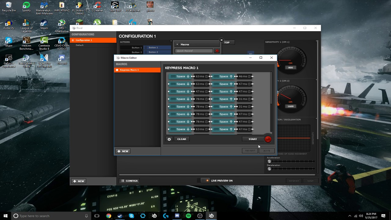 How to set a macro in the Steelseries software on your mouse!