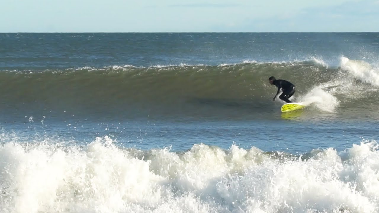 Perfect Surf at a Secret Spot in New England!