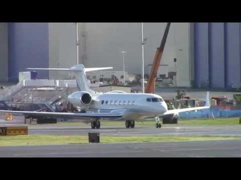 High Profile Gulfstream G650 Departure from Paine Field