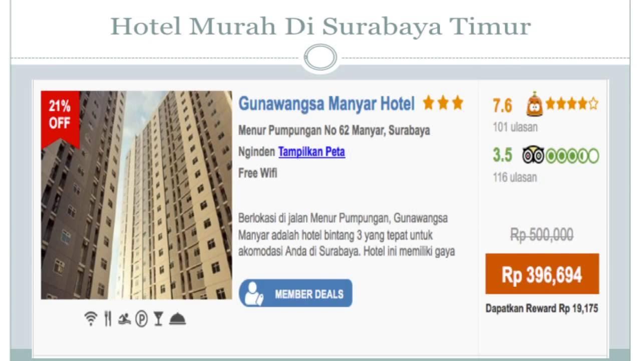 Hotel Di Surabaya Timur Murah