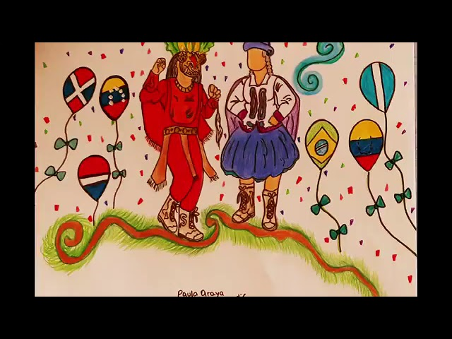 Video Mural de Cuartos Medios Artes: Fiesta de la Chilenidad en Pandemia