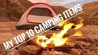 my top 10 camping items   junkyard fox