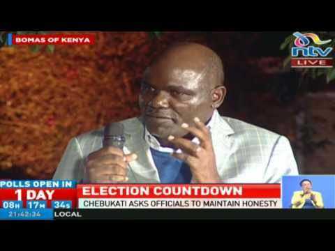 Wafula Chebukati details the electoral process and IEBC's preparations