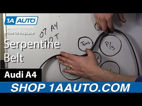 How to Replace Serpentine Belt 04-09 Audi A4
