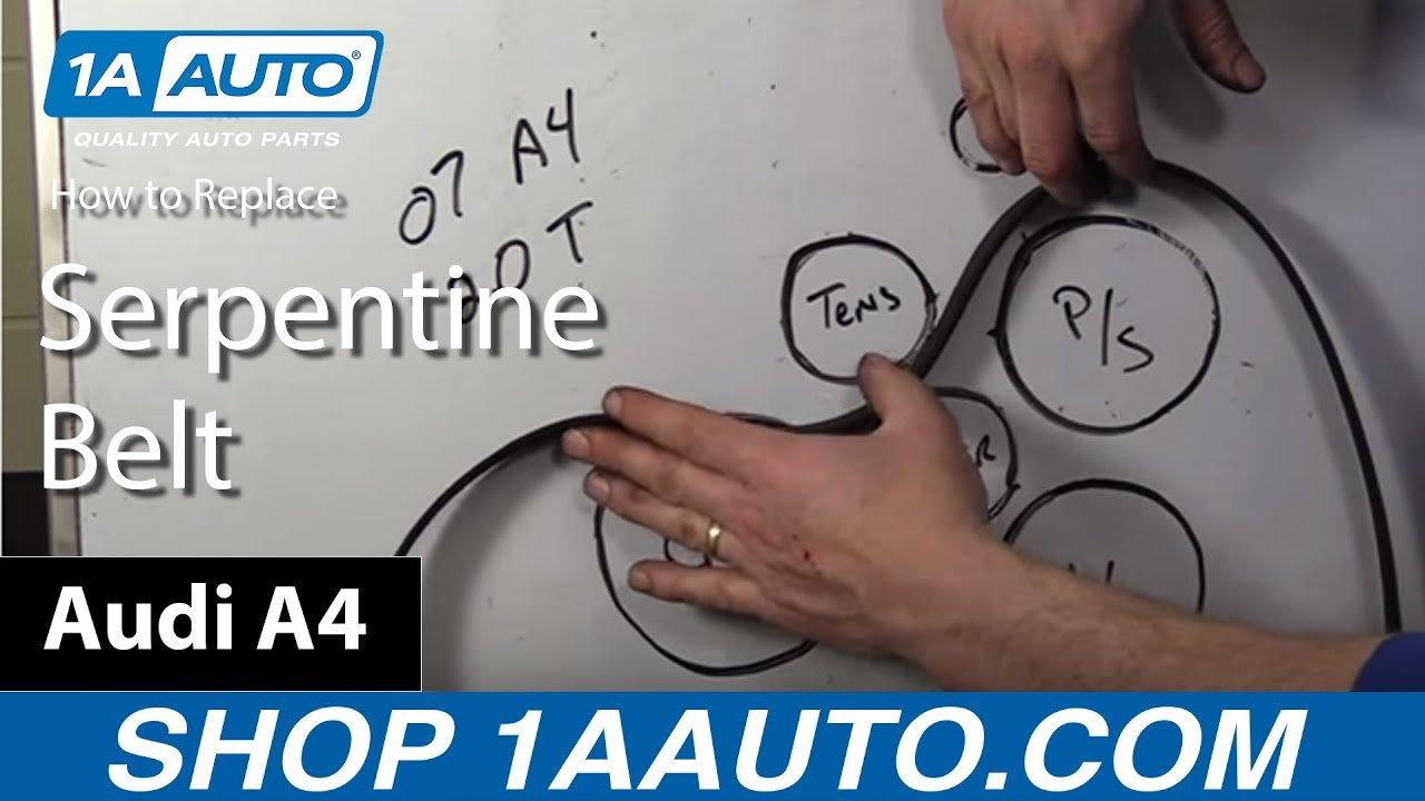 How to Install Replace Serpentine Belt 200208 Audi A4 2