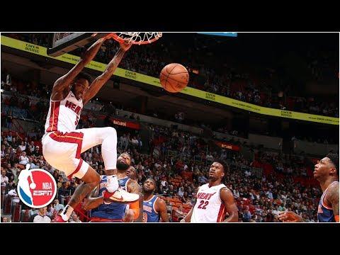 Heat put on a dunk contest vs. Knicks   2019-20 NBA Highlights