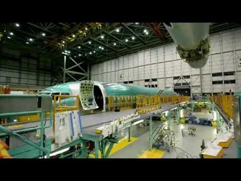 Flugzeugmontage im Boeing Werk