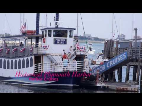 Downtown Plymouth Massachusetts to the Waterfront and Harbor HD