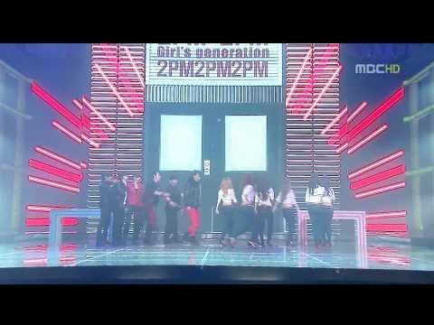 【LIVE�31 SNSD & 2PM ' Sexy Back + Crazy in Love '@  2009 ṃBC 歌謠大戰