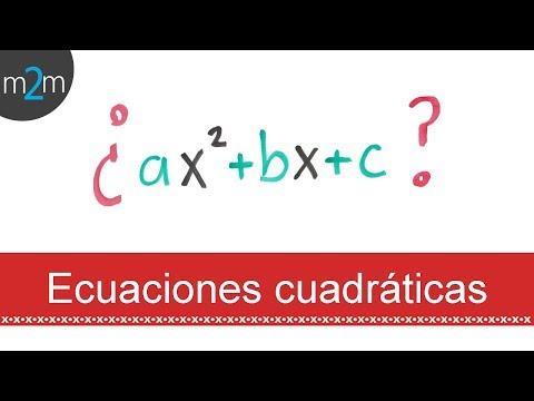 Hallar la ecuación cuadrática �s sus raíces