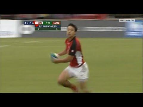Nathan Hirayama playmaking vs Tonga 2013