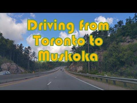 Driving From Toronto To Bracebridge (Muskoka), Ontario, Canada