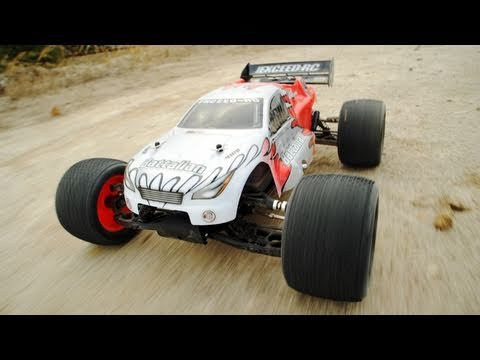 1/8th Exceed Nitro Gas Battalian RC Truggy in Action