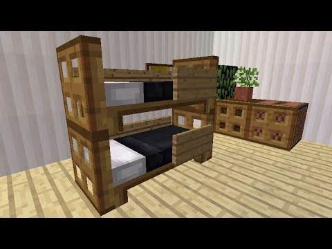minecraft how to make a realistic bunk bed youtube. Black Bedroom Furniture Sets. Home Design Ideas