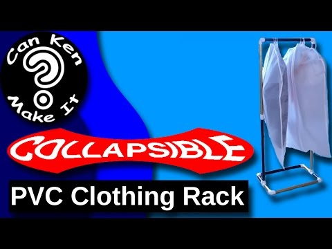 Make a portable, collapsible clothing rack from PVC for 10 dollars in under an hour