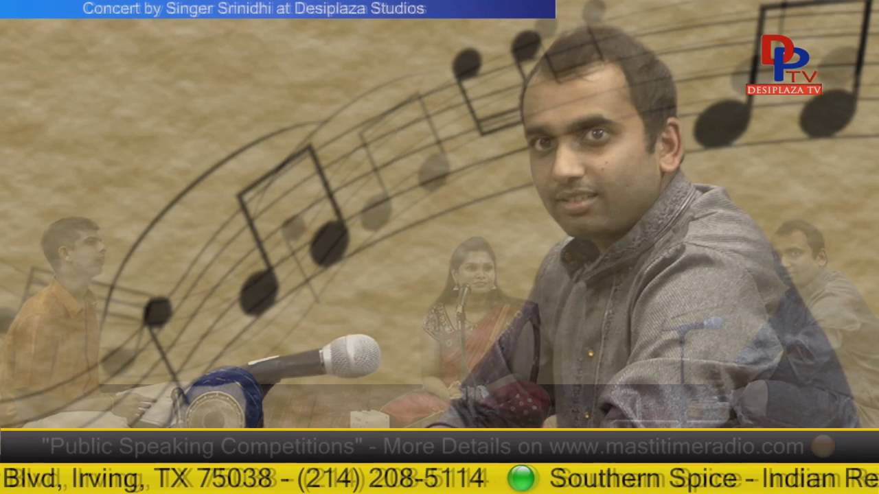 Part 6. Sreenidhi Giving Carnatic music concert at Desiplaza Studio,Irving,Texas.