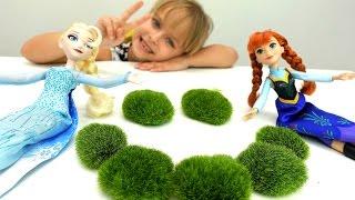 Эльза и Анна сажают цветы - Идеи для кукол - Мультики для девочек
