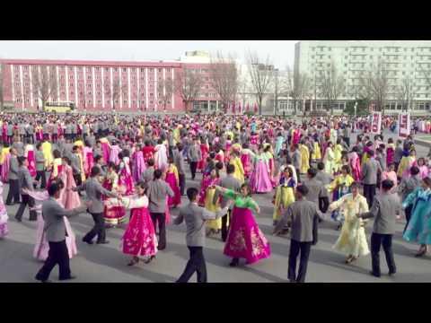 Students mass dancing in Pyongyang, North Korea