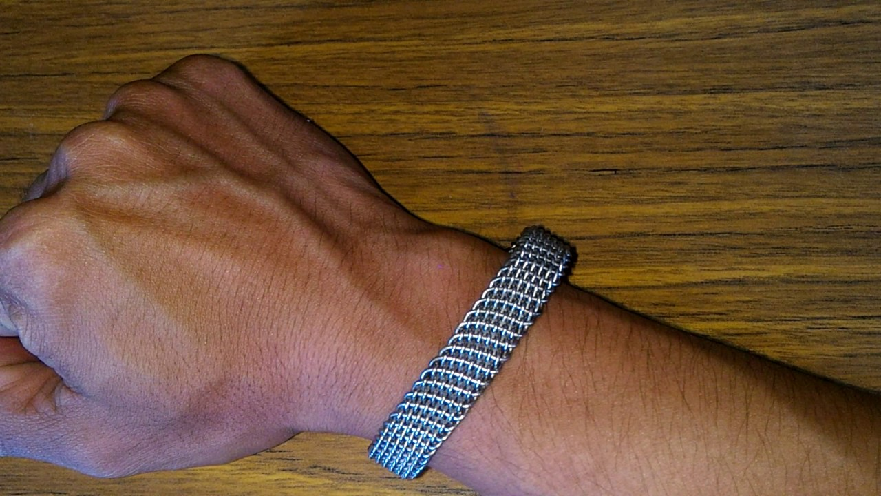 Stainlees Wire Weaving Chain Bracelet
