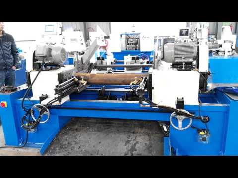 RT-160SM double head chamfering machine processing φ133x4x1200mm big tube