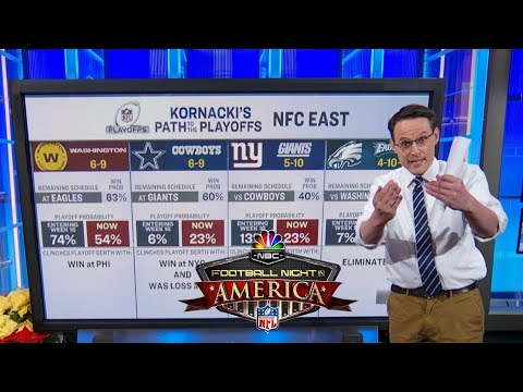 Steve Kornacki looks at NFL playoff picture during Week 16 | Football Night in America | NBC Sports