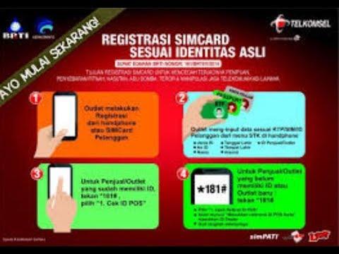 Cara Registrasi Ulang Kartu Prabayar XL SIMPATI TRI SmartFren Indosat  YouTube