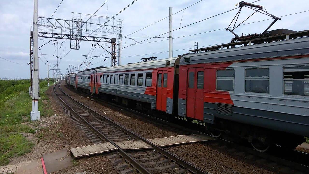 ЭД4М-0105 Москва(Казанский вокзал)-Голутвин - YouTube