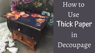 PRINTING DECOUPAGE PAPERS AT HOME   HOW TO DECOUPAGE WITH THICK PAPER   TUTORIAL FOR BEGINNERS