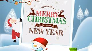 Merry Christmas & Happy New Year Greetings Best Wishes social media post E card