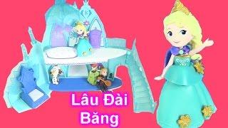 Đồ Chơi Lâu Đài Công Chúa Tuyết Elsa & Mở 3  Búp Bê Mini Anna Kristoff Người Tuyết Olaf  [ Bí Đỏ]