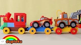 Lego Duplo Kereta Api Mengirim Mobil ke Bengkel - Duploku