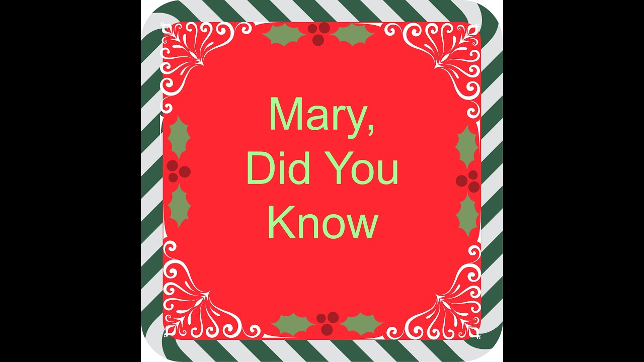 Mary, Did You Know Cover - YouTube