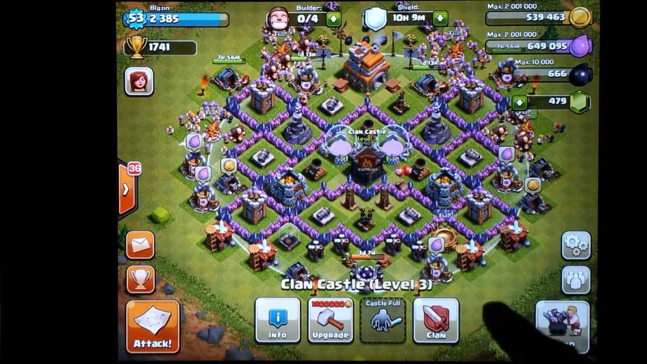Clash of clans town hall level 7 farming defense changes youtube