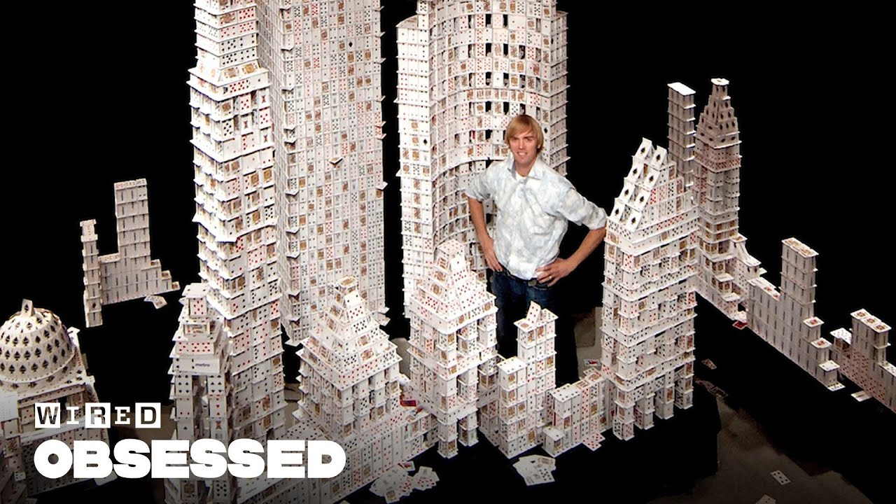 How This Guy Stacks Playing Cards Impossibly High   Obsessed
