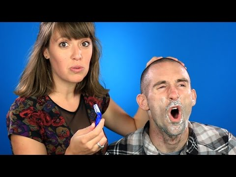 Girlfriends Shave Their Boyfriends' Faces thumbnail