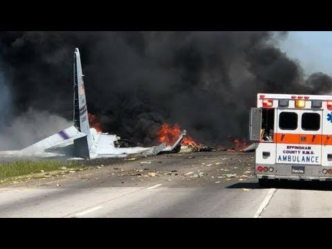 Military Cargo Plane Crashes near Savannah, GA - LIVE BREAKING NEWS COVERAGE