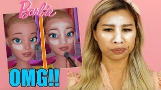 OMG ❌ Ich schminke ein BARBIE VLOGS MAKE UP TUTORIAL nach! l Kisu