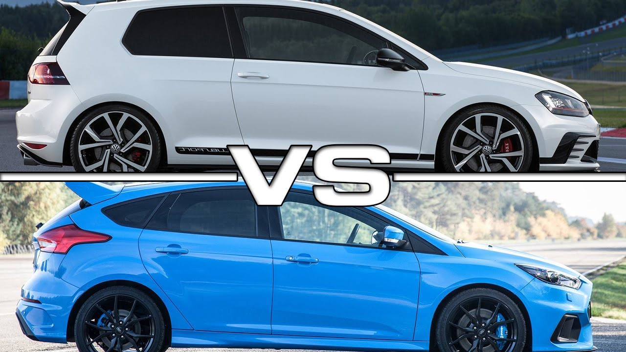 vw golf gti clubsport vs ford focus rs youtube. Black Bedroom Furniture Sets. Home Design Ideas