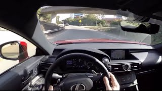 2015 Lexus RC F WR TV POV City Drive