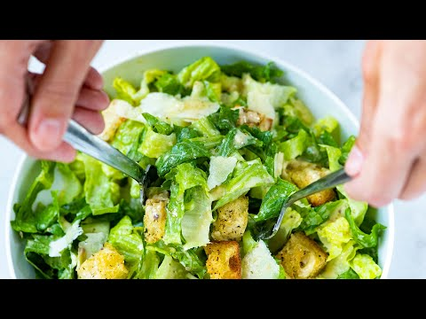 Our Favorite Homemade Caesar Salad From Scratch