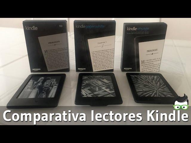 Kindle vs  nuevo Kindle Paperwhite vs  Kindle Voyage