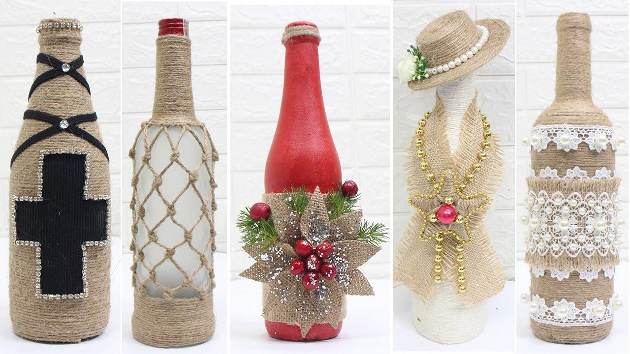 10 Jute bottle decoration ideas | Home decorating ideas ...