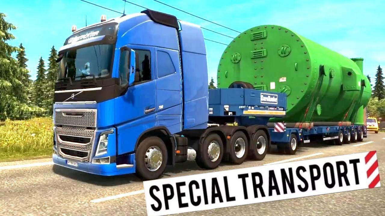 euro truck simulator 2 special transport dlc 60 ton. Black Bedroom Furniture Sets. Home Design Ideas