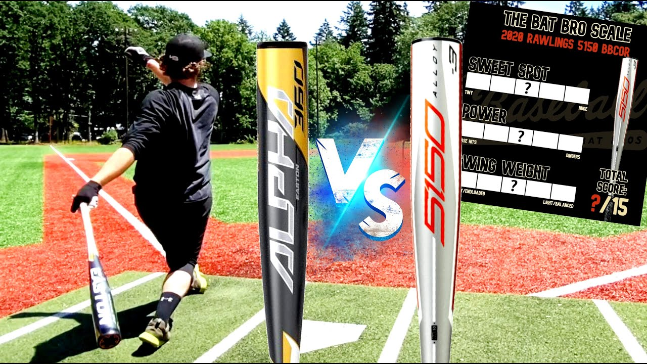 Easton Alpha vs. Rawlings 5150 - Budget Bat Showdown - BBCOR Baseball Bat Reviews