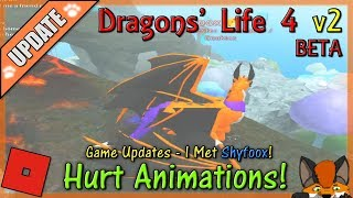Roblox - Dragons' Life 4 v2 BETA - Hurt Animations! #25 - HD