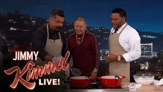 Anthony Anderson and George Lopez Cook with Chef Eddie Huang