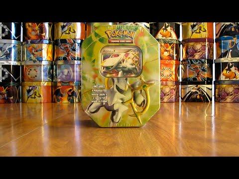Pokemon Arceus Lv. X Tin Opening